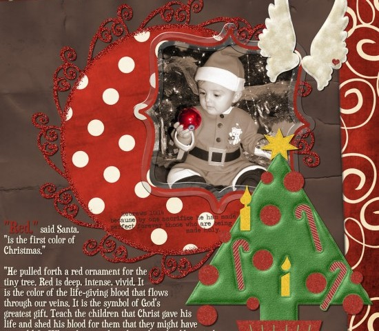 The True Meaning of Christmas – Challenge Part 4 of 9 – The Red Ornament Freebie