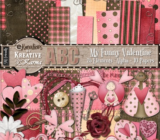 My Funny Valentine Digi Kit! $1 This Weekend ONLY!