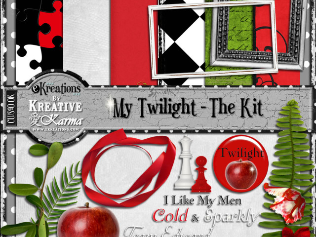 Twilight Digital Kits, Quick Pages, Elements A Freebie & More!
