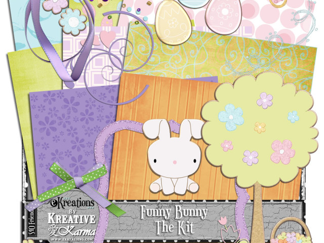 NEW Funny Bunny Digital Scrapbooking Series – 50% off this weekend only!