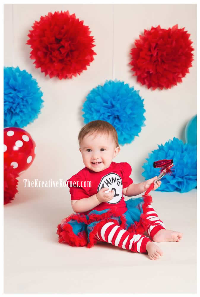 Thing 1 2 My Twins 1st Birthday Party The Kreative Korner