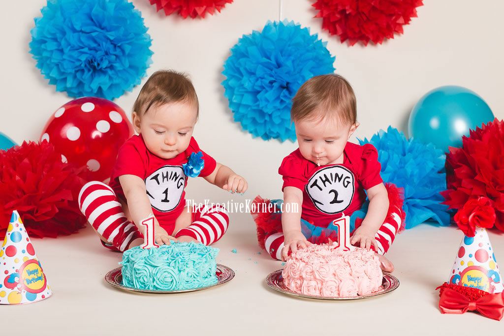 Thing 1 Thing 2 My Twins 1st Birthday Party The Kreative Korner