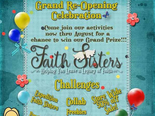 Faith Sisters Grand Re-Opening Party Freebies Blog Hop!